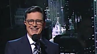 Stephen Colbert and John Prine