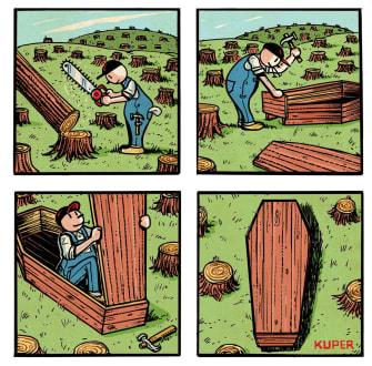 Editorial Cartoon World deforestation climate change