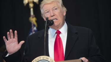 Donald Trump speaks at the Smithsonian National Museum of African American History and Culture