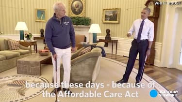 Bill Murray and President Obama play golf, talk ObamaCare