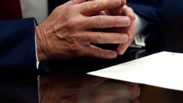 President Trump's hands