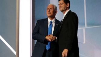 Mike Pence and Paul Ryan.