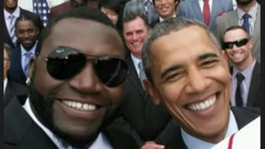Big Papi's presidential selfie was a big marketing gimmick