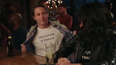 Beck Bennett and Cecily Strong on SNL
