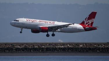 A Virgin America plane.