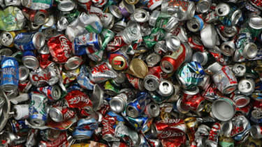 Cans to be recycled.
