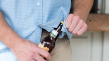 A shirt that helps you open beer bottles