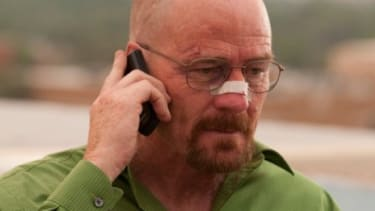 """Bryan Cranston's Walter White wrapped on up the fourth season of AMC's """"Breaking Bad"""" with a mind-blowing, """"morally searing"""" finale Sunday night."""