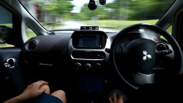 A self-driving car.