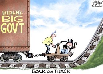 Political Cartoon U.S. biden taxes rich
