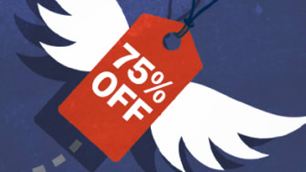A flying sale tag.