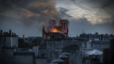 Flames engulf Notre Dame