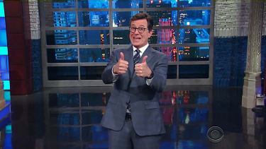 Stephen Colbert celebrates that humanity is still alive