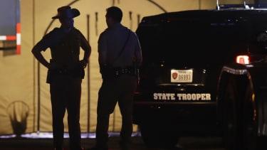 Police officers in Sutherland Springs, Texas