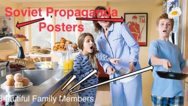 Obama's press secretary decorates home with Soviet propaganda