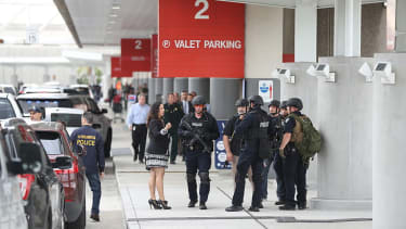 The aftermath of a shooting attack at a Florida airport