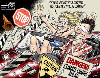 Editorial Cartoon U.S. climate change ignorance