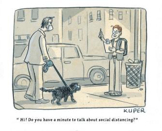 Editorial Cartoon U.S. social distancing