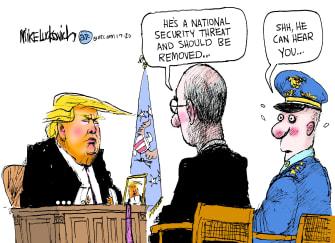 Political Cartoon U.S. Trump Soleimani Killing National Security Threat