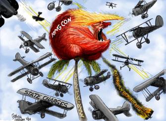 Political Cartoon U.S. trump gop mar a lago