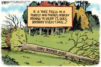 Political Cartoon U.S. Cory Booker 2020 drop out