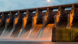 Keystone Dam on the Arkansas River.