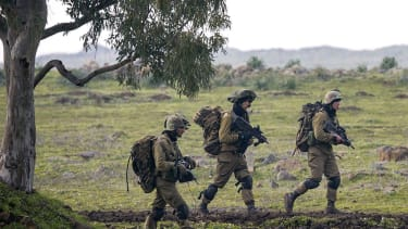 Israeli forces in Golan Heights
