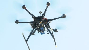 A drone demo takes place at the South by Southwest festival in Austin, Texas, on March 13.