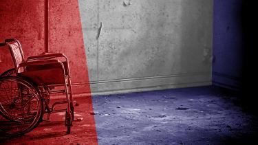 A wheelchair.