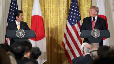 President Trump and Japan PM.