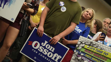Democrat Jon Ossoff needs to reach 50 percent on Tuesday or else risk losing the election in run-off voting.