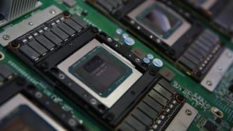 A Nvidia graphics processing unit.