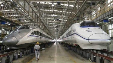China's bullet trains, 2015.