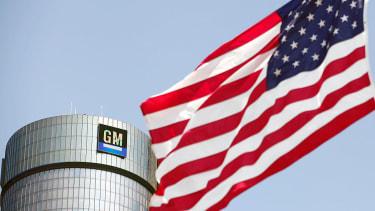 The General Motors logo in Michigan