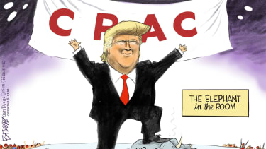 Political Cartoon U.S. trump cpac gop