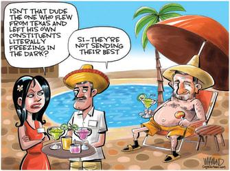 Political Cartoon U.S. ted cruz cancun texas