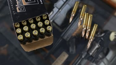 Bullets available at Sportsman Arms store in Petaluma, Calif.: California is considering a tax on the sales of ammunition.