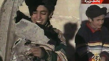 Hamza bin Laden, left.
