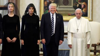 Ivanka, Melania, and President Trump