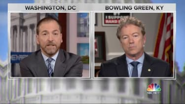 Chuck Todd and Rand Paul.