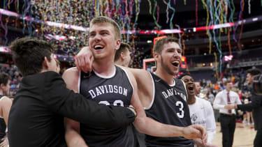 Davidson College basketball players.