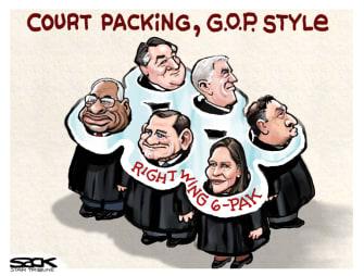 Political Cartoon U.S. GOP SCOTUS