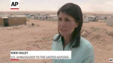 Nikki Haley visits a Syrian refugee camp