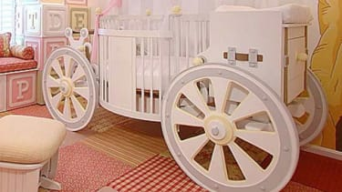 This fantasy carriage crib may help William and Kate's new baby feel like, well, a princess.