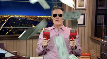 Colbert shows the money