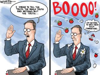 Political Cartoon U.S. gop lies