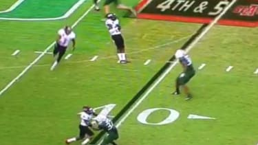 Arkansas State player dramatically fakes own death on botched trick play