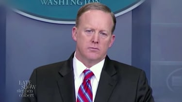 """Sean Spicer, star of """"The Bold and the Babbling"""""""
