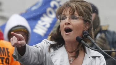 """Sarah Palin defended Gov. Scott Walker (R-Wis.) in a fiery speech at the state capitol Saturday: """"He's trying to save your jobs and your pensions."""""""