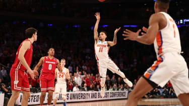 The winning shot of the Florida v. Wisconsin game